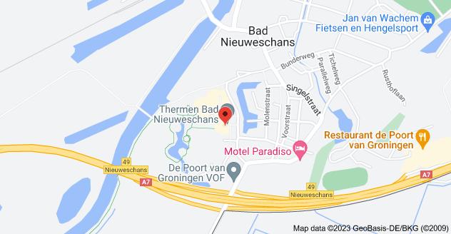 Map of Weg naar de Bron 3-9, 9693 GA Bad Nieuweschans