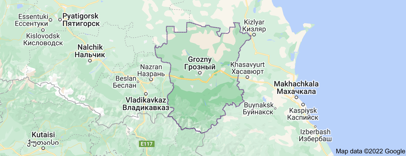 Location of Chechnya