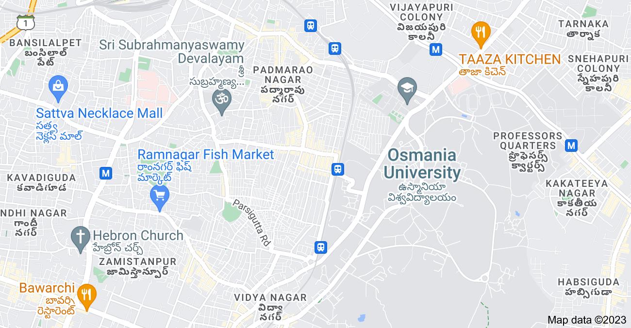 Map of Boudha Nagar, Warasiguda, Boudhanagar Colony, Hyderabad, Telangana 500061, India