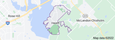 Map of Heath Texas