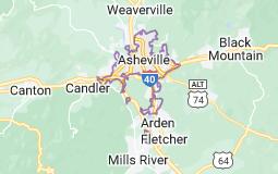 Map of Asheville, North Carolina