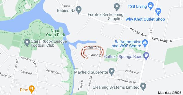 Location of Antrim Crescent
