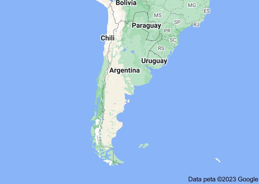 Location of Argentina