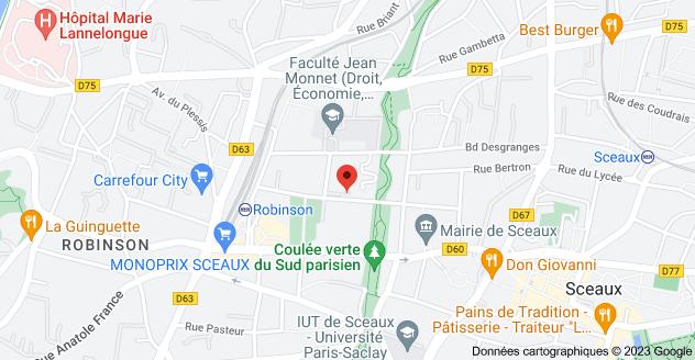 20 Rue des Clos Saint-Marcel, 92330 Sceaux: carte
