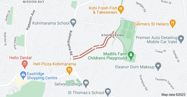 Location of Hawera Road