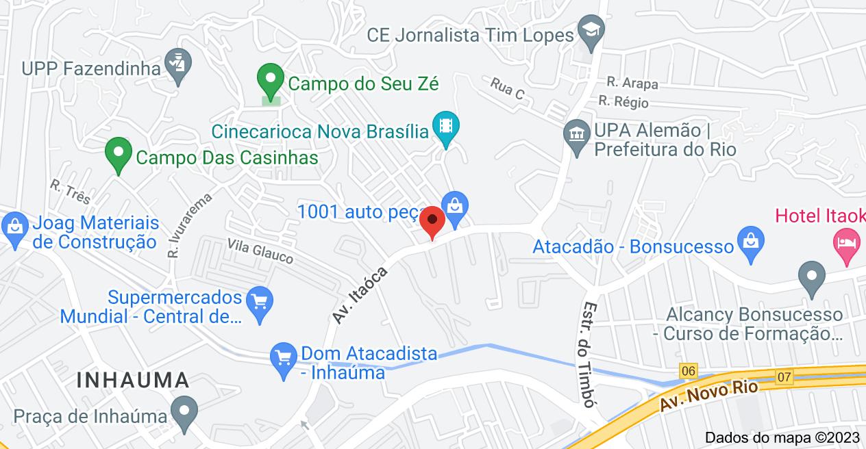 Mapa de Av. Itaóca, 1985 - Bonsucesso, Rio de Janeiro - RJ, 21061-020
