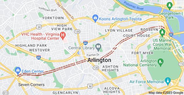 Map of Wilson Blvd, Arlington, VA