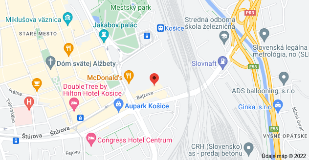 Mapa oblasti Bajzova 1431/14, 04001KoÅ¡ice