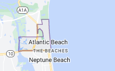 Map of Atlantic Beach, Florida