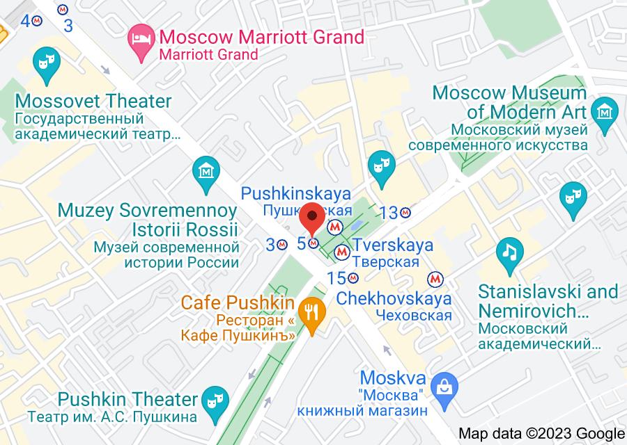 Location of Tverskaya