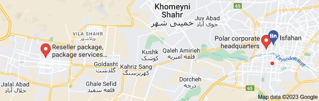 Map of نمایندگی پکیج سونیه دوال اصفهان