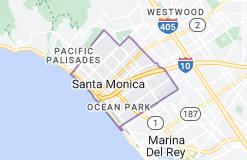 Map of Santa Monica