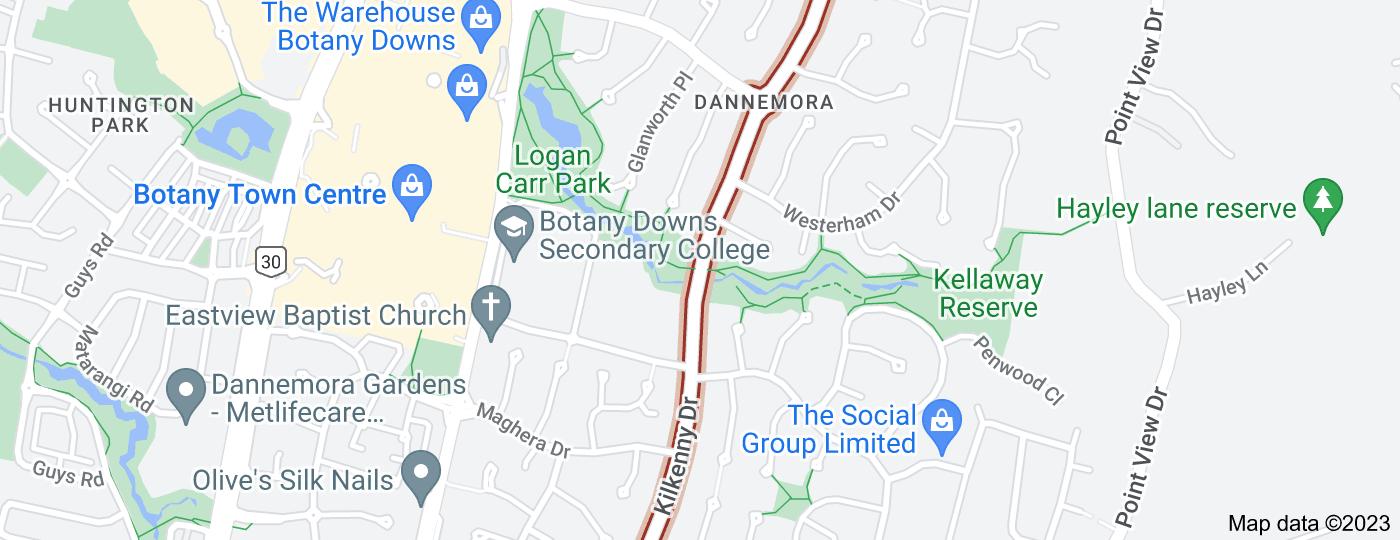 Location of Kilkenny Drive