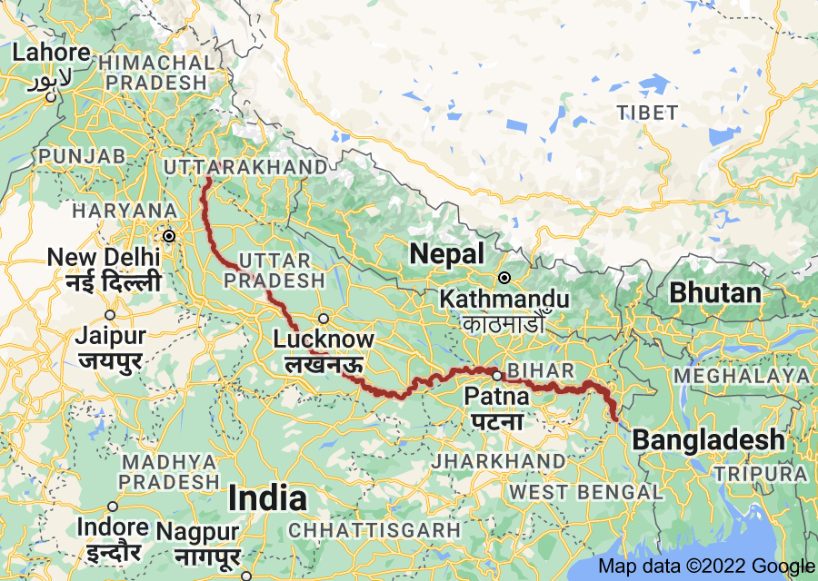 Location of Ganges