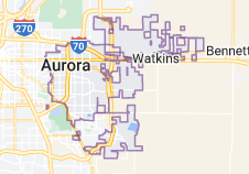 Map of Aurora, Colorado