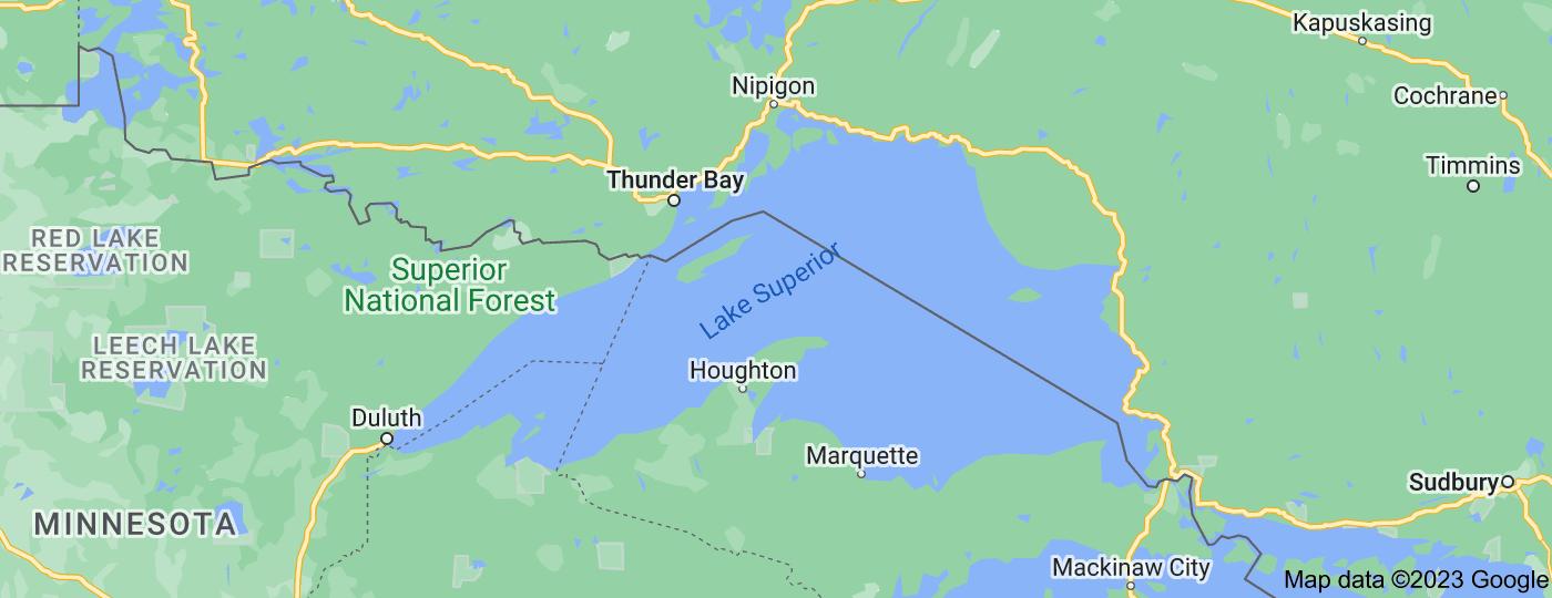 Location of Lake Superior
