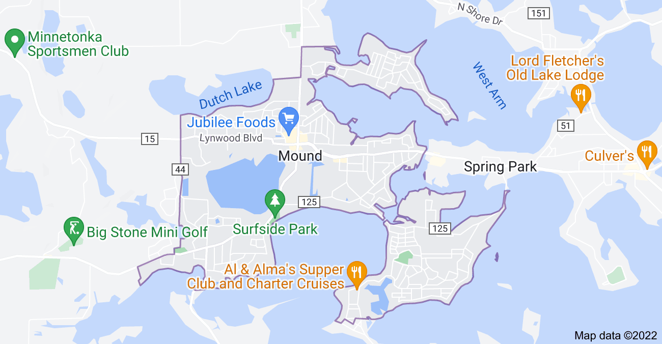 Map of Mound, MN 55364
