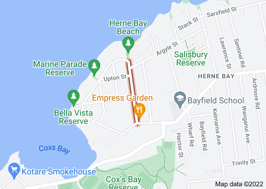 Location of Herne Bay Road