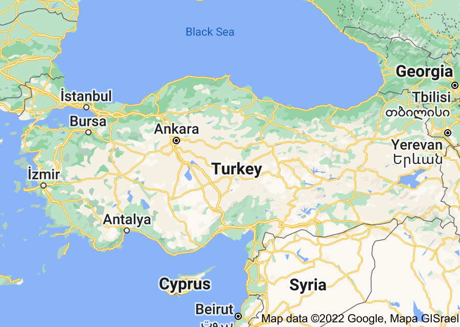Location of Turkey