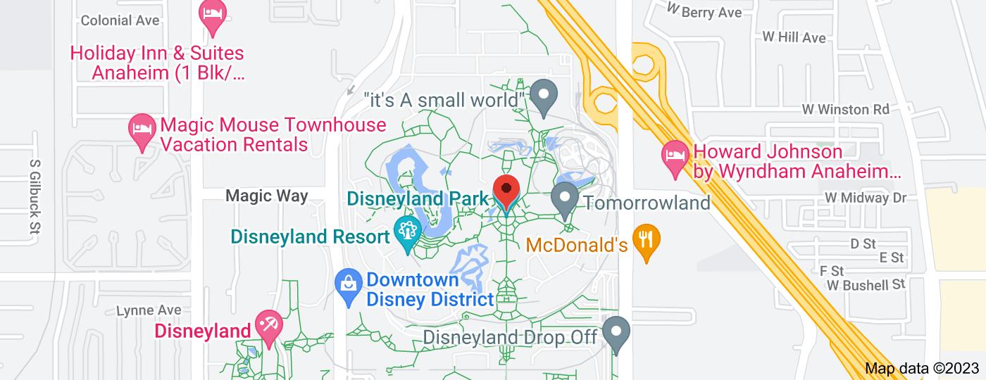 Location of Disneyland Park