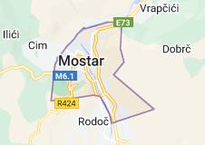 Kaart van Mostar