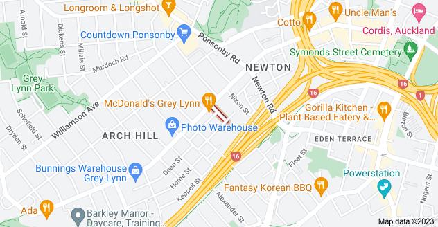 Location of Burns Street