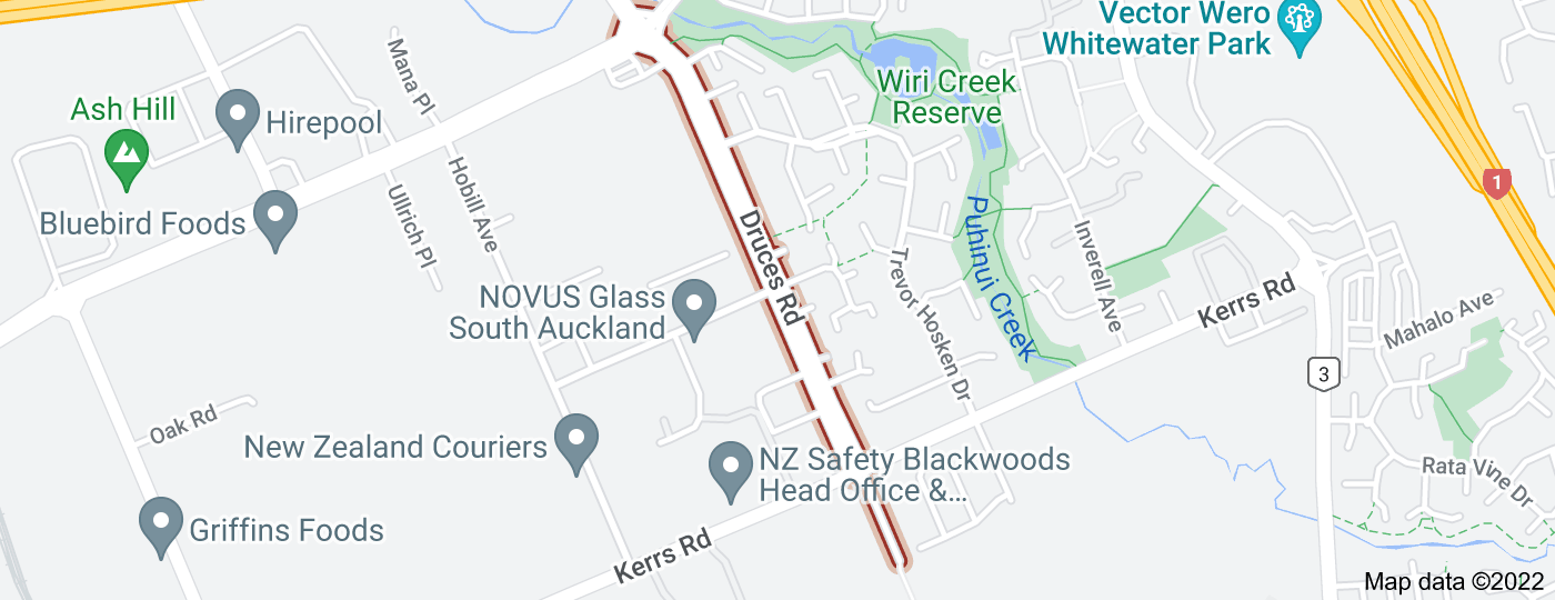 Location of Druces Road