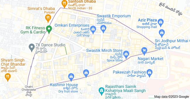 Map of Begum Bazaar, Afzal Gunj, Hyderabad, Telangana 500012, India