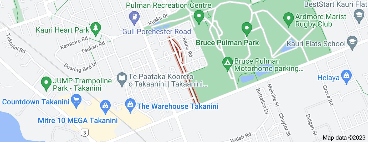 Location of Bruce Pulman Drive
