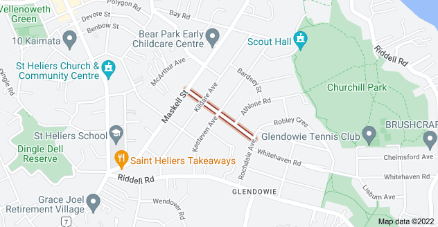 Location of Chesterfield Avenue
