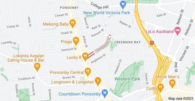 Location of Collingwood Street