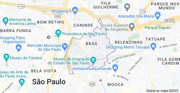 Mapa de Brás, São Paulo - SP
