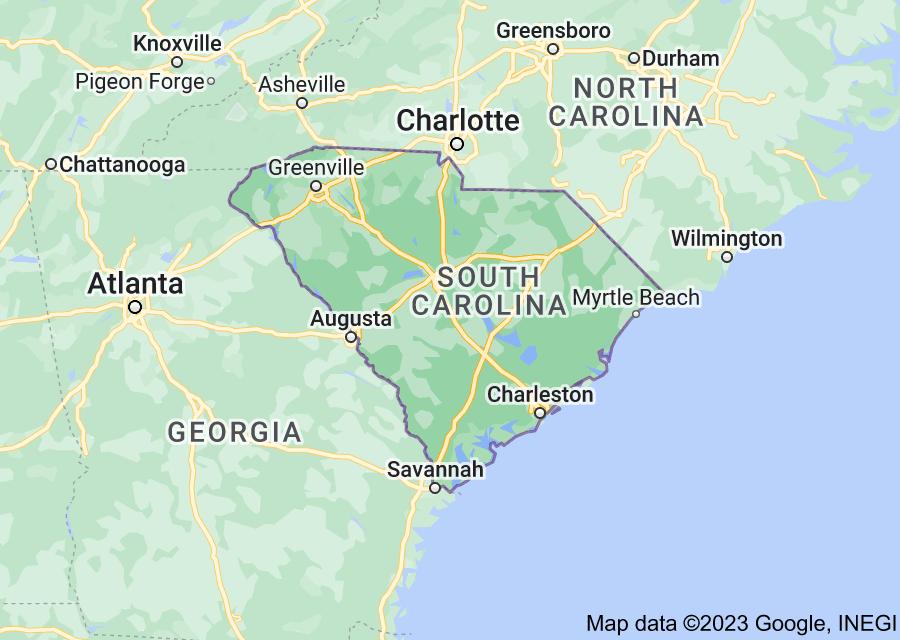 Location of South Carolina