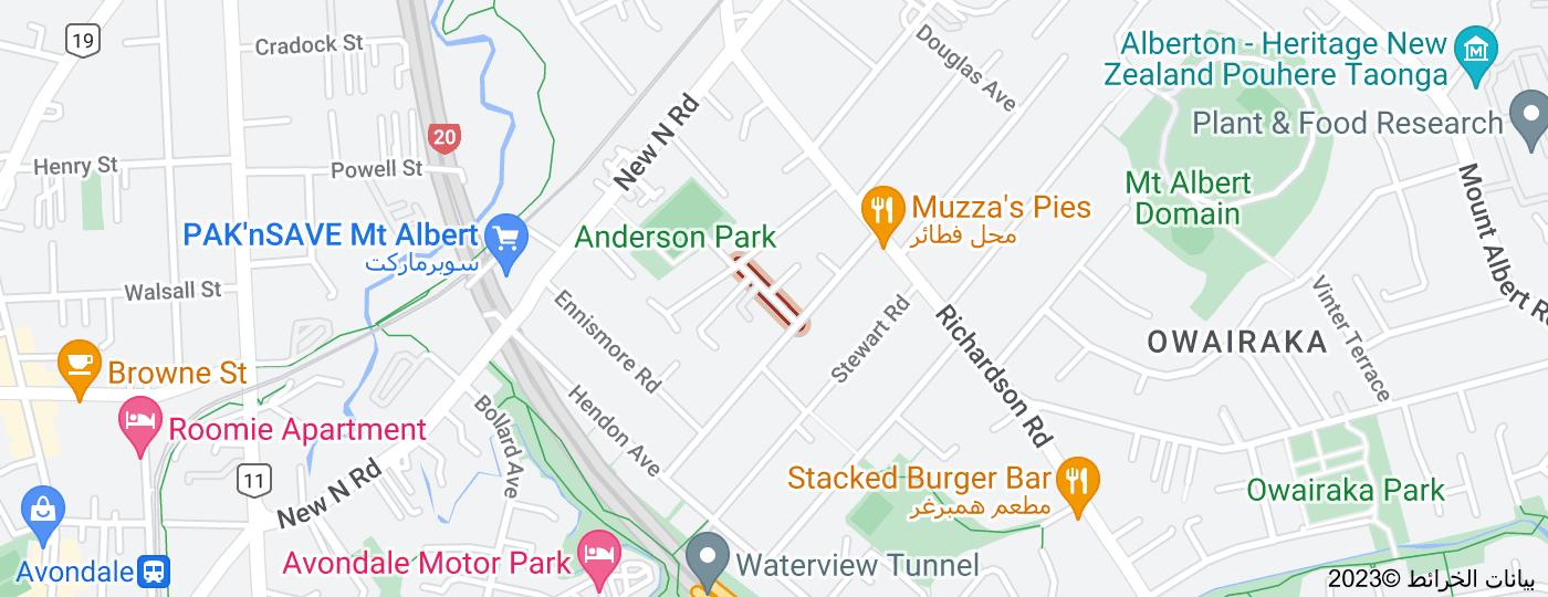 Location of Moreland Road