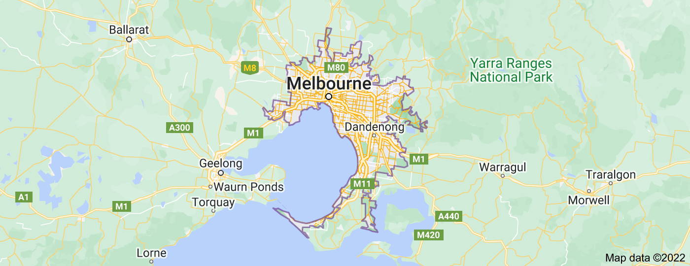 Location of Melbourne