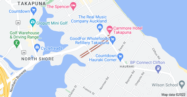 Location of Napier Avenue