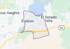 Map of Folsom, California