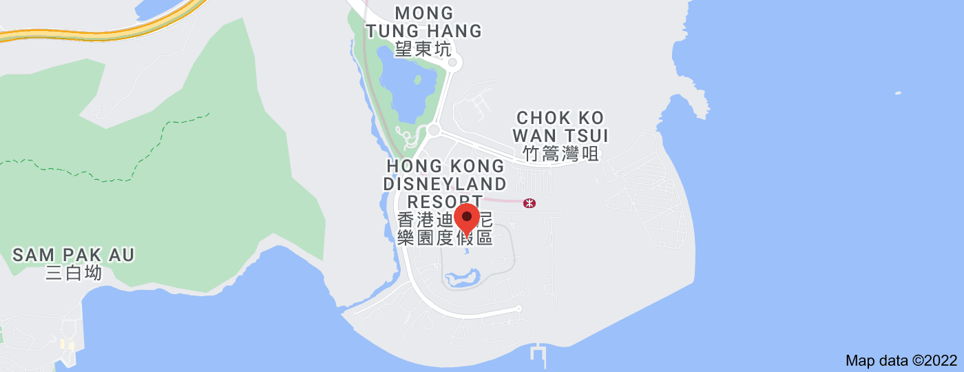 Location of Hong Kong Disneyland