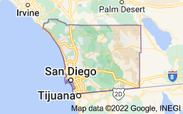 Map of San Diego County
