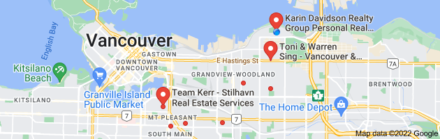 Map of vancouver east real estate