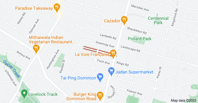 Location of Hazel Avenue
