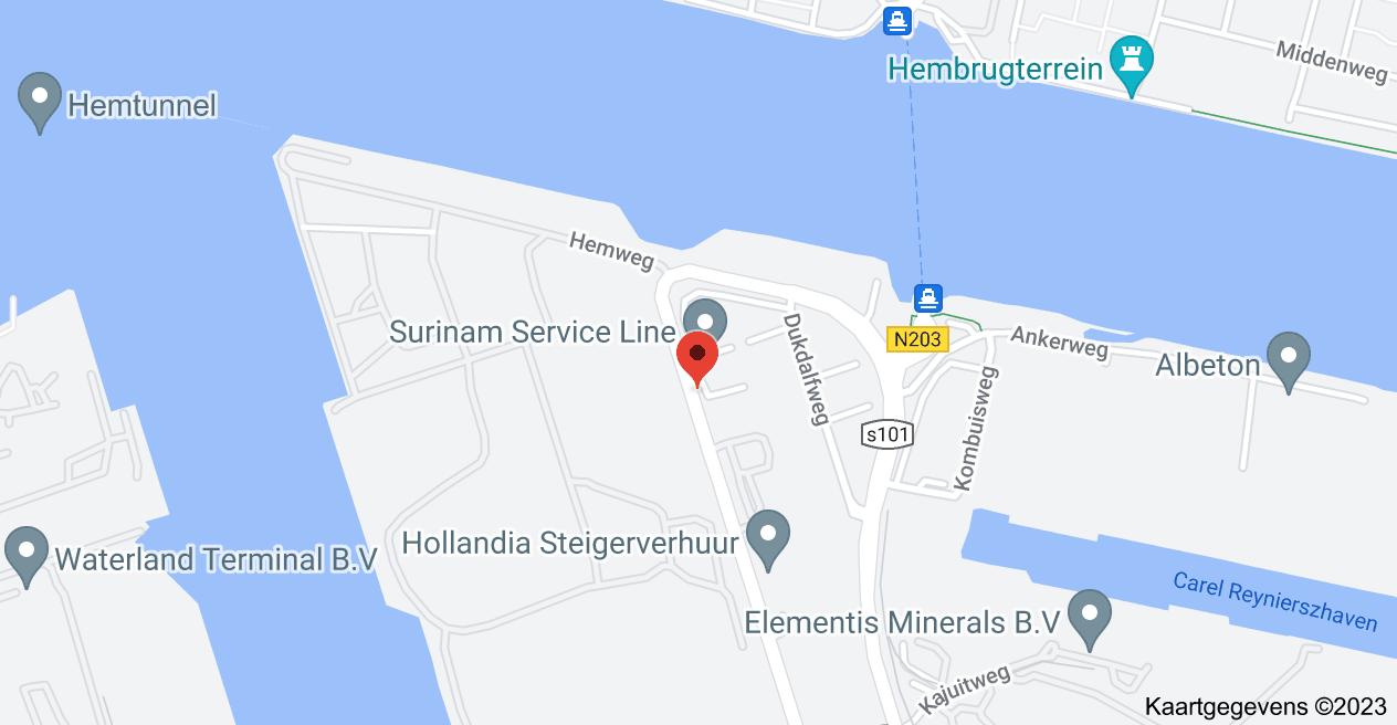 Kaart van Westhavenweg 105 /H, 1042 BB Amsterdam, Nederland
