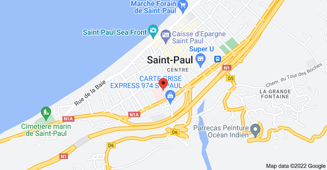 Map of 38 Rue Labourdonnais, 97460, Réunion