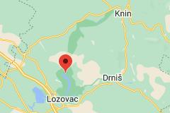 Kaart van Nationaal park Krka