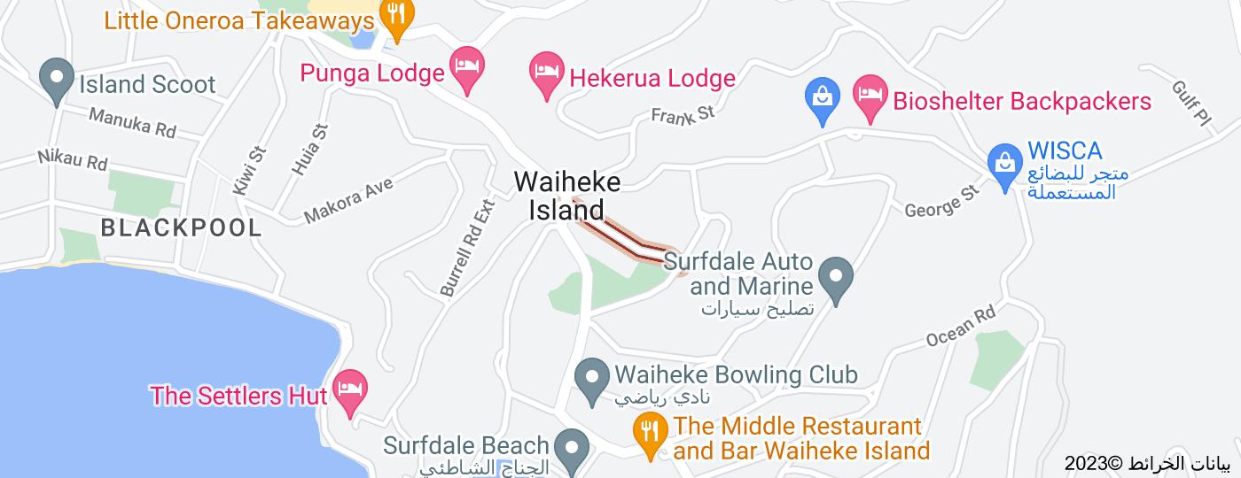 Location of Moana Avenue