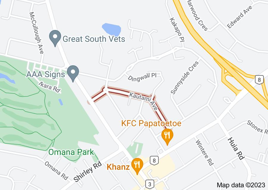 Location of Kautami Avenue
