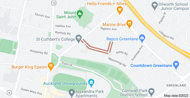 Location of Wapiti Avenue