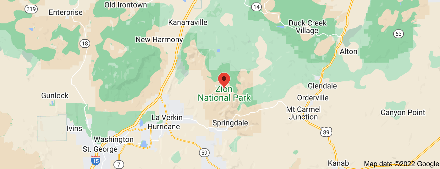Location of Zion National Park