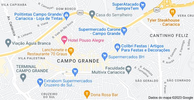 Mapa de Campo Grande, Cariacica - ES