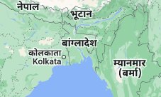 Location of बांग्लादेश